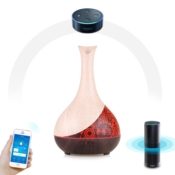 Wood Grain Smart Wifi Aroma Essential Oil Diffuser