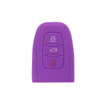 Audi 3 buttons car silicon key case