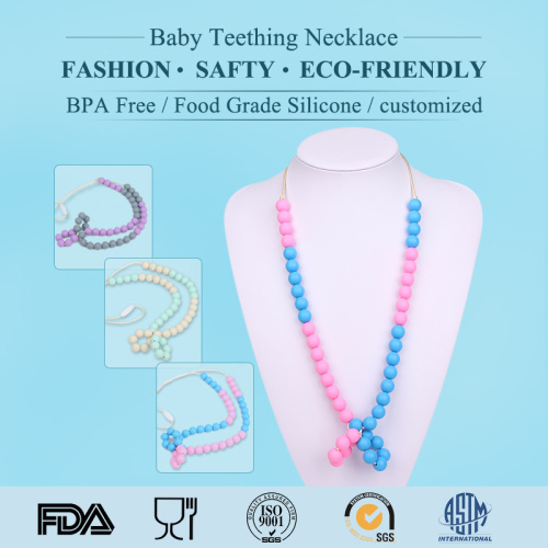 OEM Silicone Baby Teething Necklace
