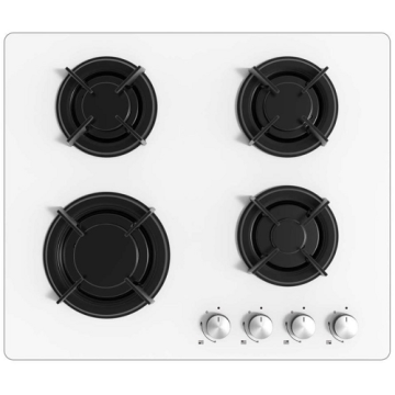 Electriq Built In Hobs on White Glass Top