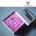 Gold foil stamping square transparent flower box
