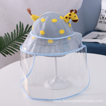 Blue Giraffe Anti-droplet Hat for Children