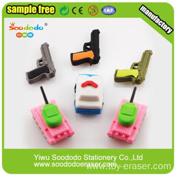 2014 Latest Hot Selling Gun And Car Stationery Eraser