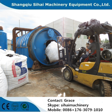 scrap tire pyrolysis plant without pollution