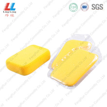 Rectangle yellow car washing sponge
