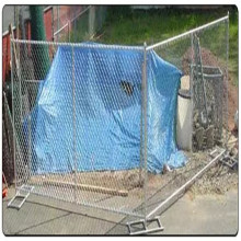 heavily galvanized 8 guage chain link fence quick fence