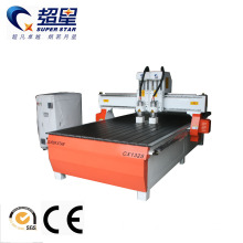 Cnc carving multihead router for glude wood machine