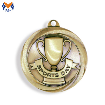 Sport events award trophy design medal
