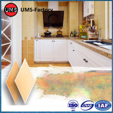 Antique yellow tiles patterns for kitchen