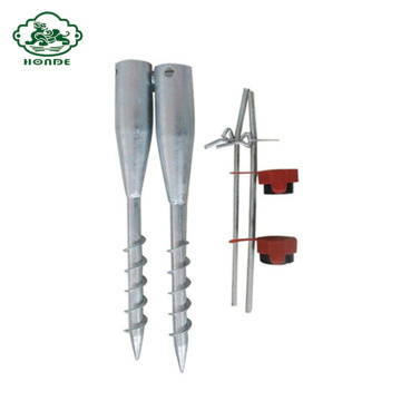 Galvanized Ground Screw Anchor For Flag