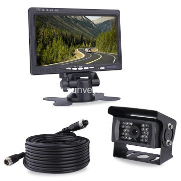 High Speed Monitoring System 7Inch Vehicle LCD Monitor with Night Vision IR Camera