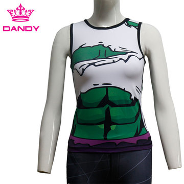 Cheap sublimated fitness tank top