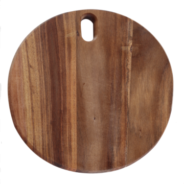 Round shape cutting board with hole