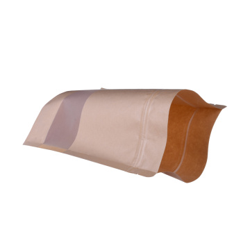 Compostable Self Stand Pouch PLA Coffee Paper Bags