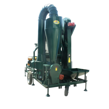 Seed cleaner with wheat huller and seed cleaning machine