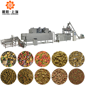 Dog food extrusion pet feed machine line