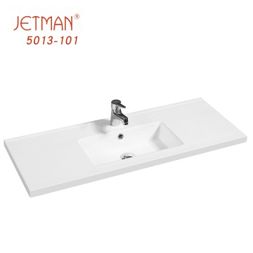 China sanitary ware ceramic cabinet feather edge basin