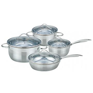 8 pieces belly shape cookware