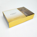 Luxury Gold Skincare set box packaging with sleeve