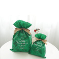 Green Christmas Plant Pattern Gift Packaging Bags