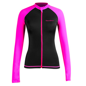 Seaskin Zip Women's Rash Guard Top Long sleeve
