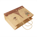 Recycled Handhandle Sugar Packaging kraft paper bag