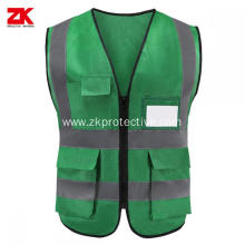 Breathable hi vis customised safety vests