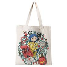 Ladies Handbags Coraline Canvas Tote Bag Cotton Cloth Shoulder Shopper Bags for Women Eco Foldable Reusable Shopping Bags