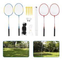 Outdoor Sports Badminton Set Badminton Rackets Birdies Net Adjustable Polls Beach Backyard tennis Ball badminton shuttlecock