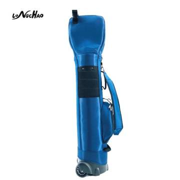 Wholesale custom LOGO Blue Golf bag Golf Staff Bag with Wheels