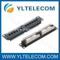 1U 10inch 12port Patch Panel Cat.5e and Cat.6 type