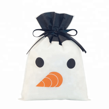 X-mas Snowman Packaging Bag Drawstring Type