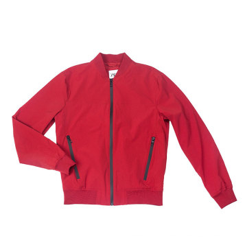 stretch nylon bomber jacket