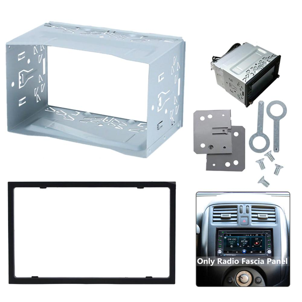 Unit 2 DIN Cage Radio Vehicle Case Car Fitting DVD Player Frame Mounting Plate