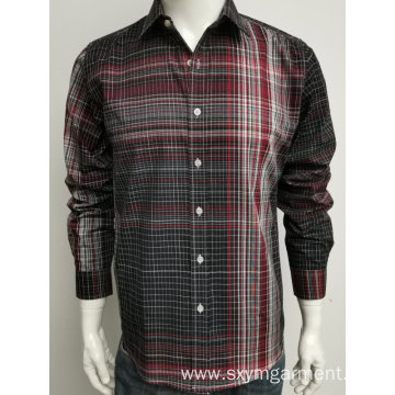 Men's tc 65/35 yd check ls shirt