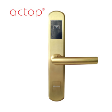 Hotel door lock with handle
