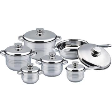 12pcs cookware set with ss handle