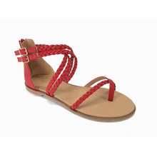 LADIES FASHION ROMAN SANDAL with woven upper