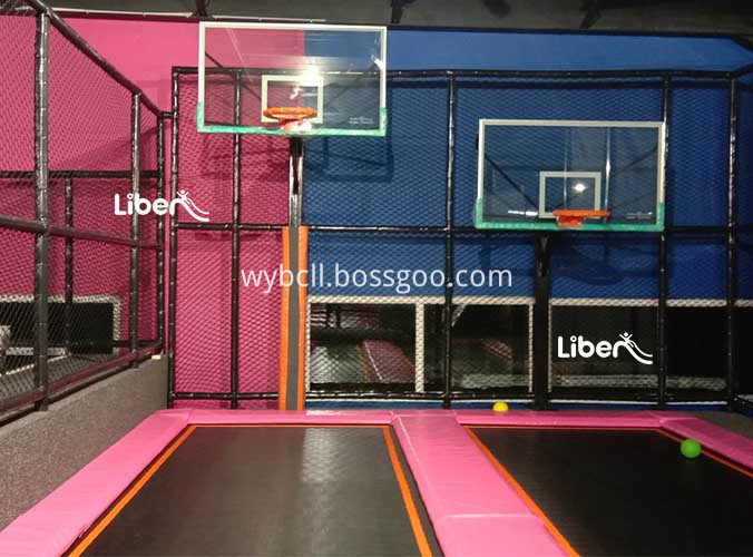 trampoline indoor with Ninja Course