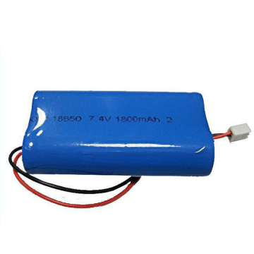 18650 2S1P 7.4V 1800mAh Li Ion Battery Pack