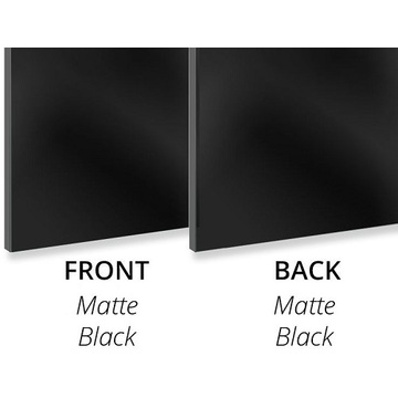 Aluminium composite panel 3MM Matte Black/Matte Black
