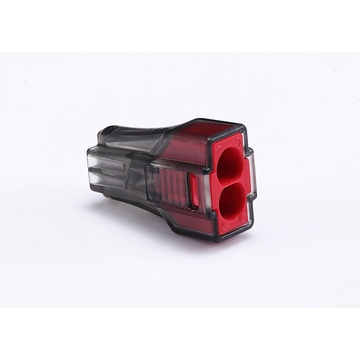 Push Wire Connectors 2 Poles Black Red Housing