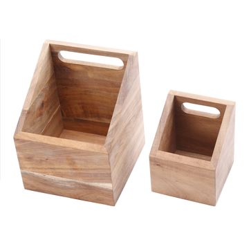Wooden kitchen utensil holder