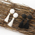 Wholesale Simple Cute Button Tassel Fashion Earring For Sale