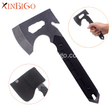 G10 fiber handle camping axe with cutting rope