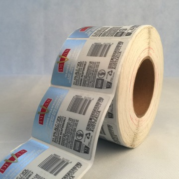 Adhesive Silver Foil Sticker Vinyl Printed Label