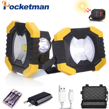 Car overhaul Portable Work Light Battery Solar energy Light Tent Lantern USB Rechargeable Searchlight For Hunting Camping Latern