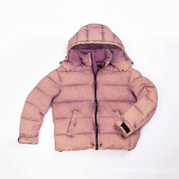 Men`s cotton garment dyed down jacket
