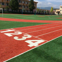 Customized W Shape Football Field Artificial Grass