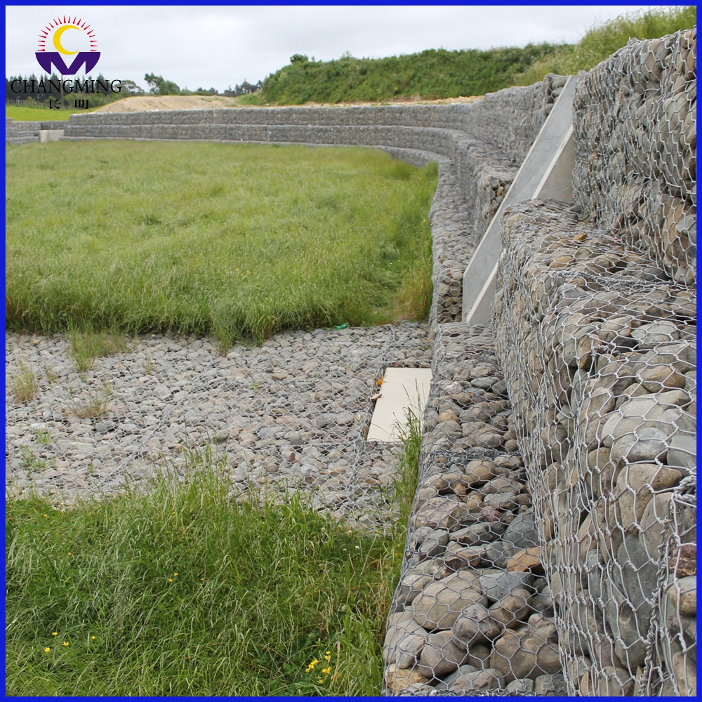 Channel Linings River Training Gabion Stone Basket